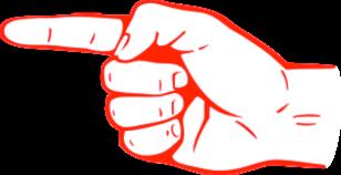 Blog finger pointing